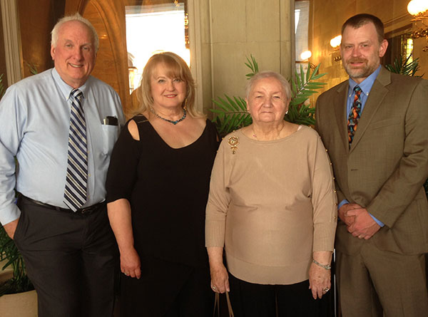 left to right: Frank Rice, PhD Sue Shipe, PhD Agnes Welch, Support Group Founder and Phillip Albrecht, PhD. Dr. Rice and Dr. Albrecht are Medical Researchers with significant findings for Fibromyalgia